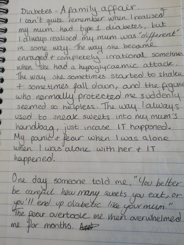 A page of text from one of the notebooks.